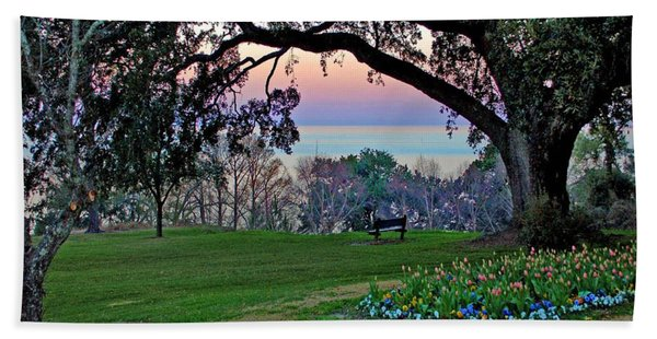 The Bay View Bench Beach Towel