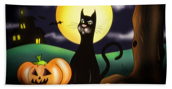 The Black Cat Beach Towel