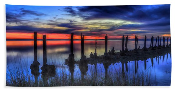 The Blue Hour Comes To St. Marks #2 Beach Towel