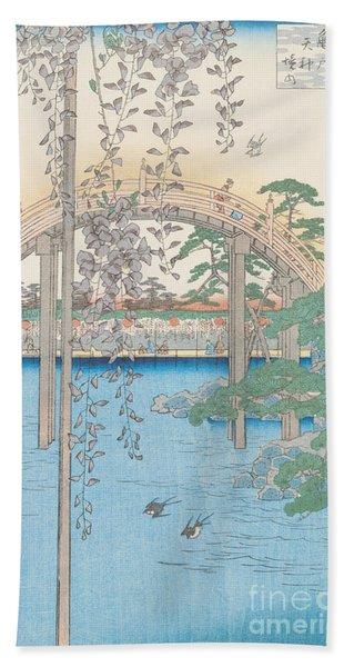The Bridge With Wisteria Beach Towel