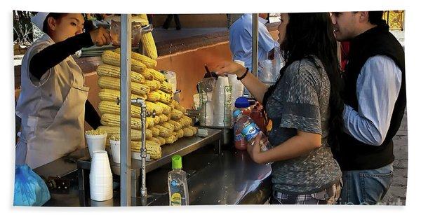 The Corn Vendor Beach Towel