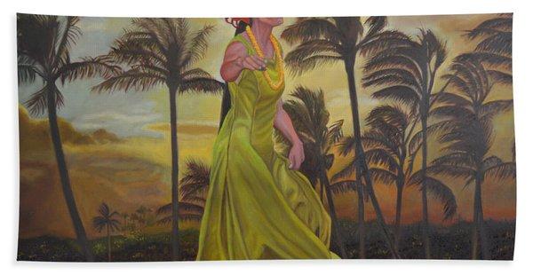 The Green Dress Beach Towel