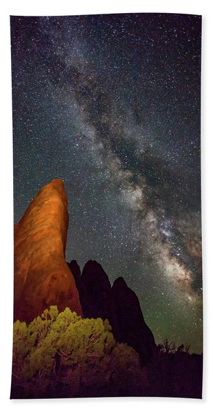The Fins At Sand Dune Arch Beach Towel