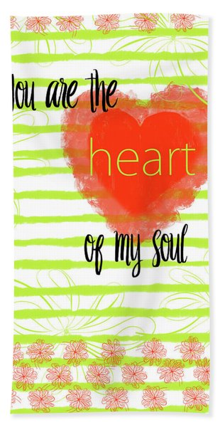 The Heart Of My Soul Beach Sheet