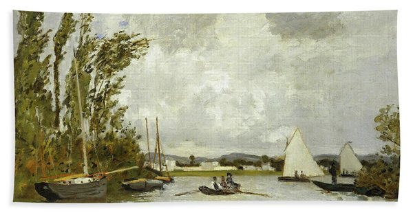 The Little Branch Of The Seine At Argenteuil Beach Towel