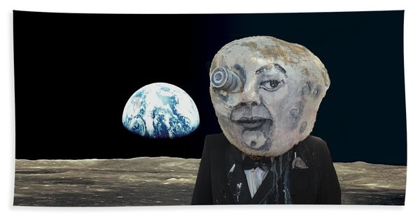 The Man In The Moon Beach Towel