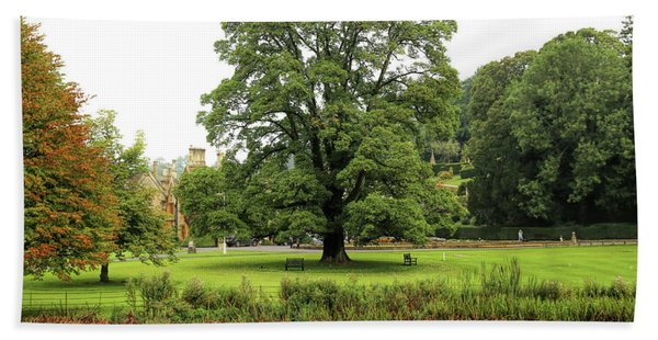 Beach Towel featuring the photograph The Manor Castle Combe by Michael Hope