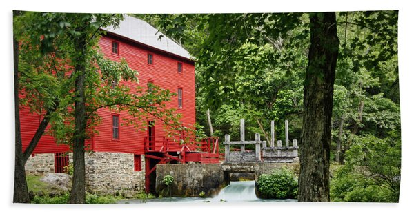 The Mill At Alley Spring Beach Towel