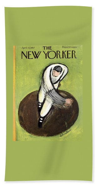 The New Yorker Cover - April 13th, 1957 Beach Towel