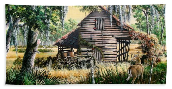 Old Floridaturpentine Barn-a Florida Memory Beach Towel