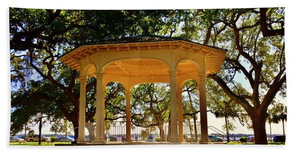The Pavilion At Battery Park Charleston Sc  Beach Towel
