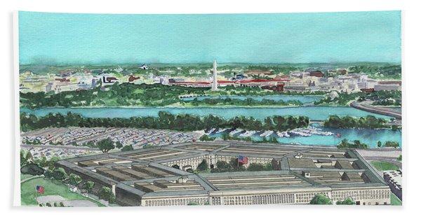 The Pentagon Beach Towel