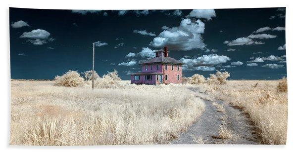 The Pink House In Halespectrum 1 Beach Towel