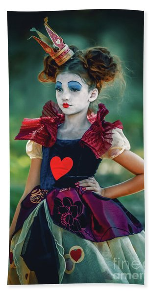 The Queen Of Hearts Alice In Wonderland Beach Towel