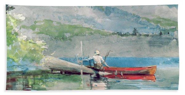 The Red Canoe Beach Towel