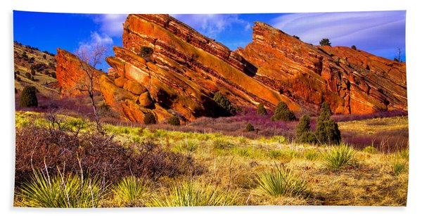 The Red Rock Park Vi Beach Towel