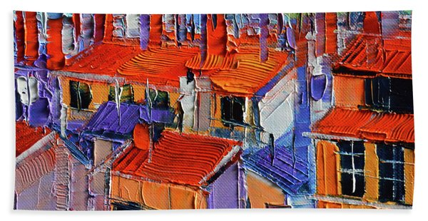 The Rooftops Beach Towel