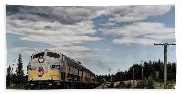 The Royal Canadian Pacific  Beach Towel