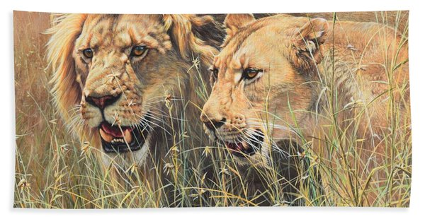 The Royal Couple II Beach Towel