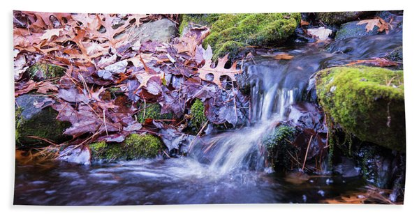 The Stream In Fall Beach Towel