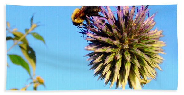 The Thistle And The Bee. Beach Towel