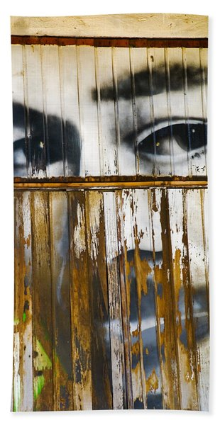 Beach Towel featuring the photograph The Walls Have Eyes by Skip Hunt