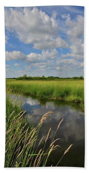 The Wetlands Of Hackmatack National Wildlife Refuge Beach Towel