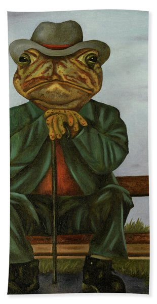 The Wise Toad Beach Towel