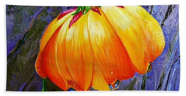 The Yellow Flower Beach Towel