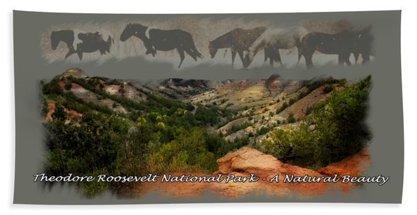 Theodore Roosevelt National Park Beach Towel
