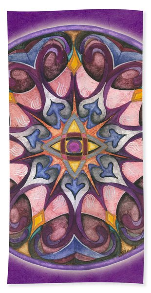Third Eye Mandala Beach Towel