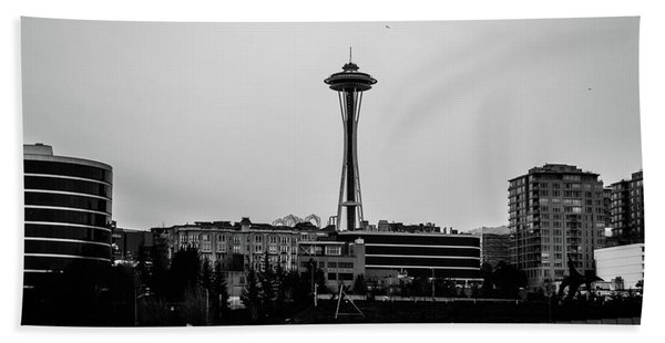 This Is Seattle Black And White Beach Towel