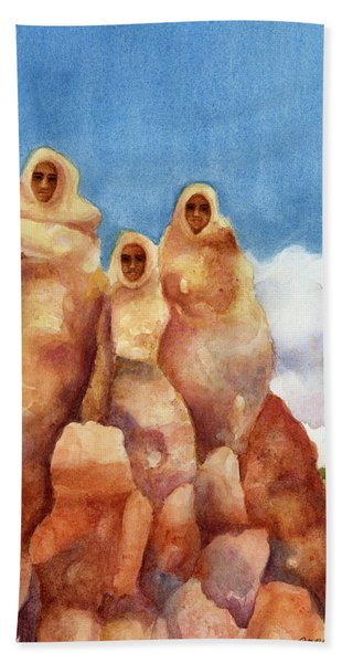 Three Sisters Of Ghost Ranch Beach Towel