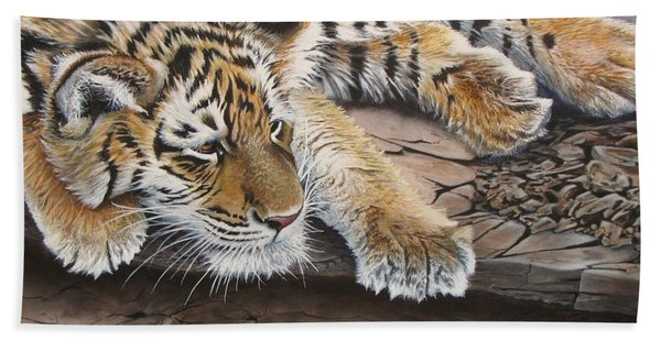 Tiger Cub Beach Towel