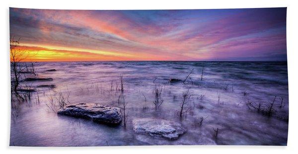 Toft Point Sunrise Beach Towel