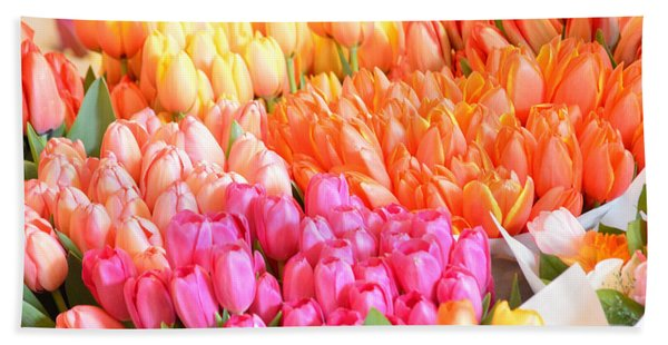 Tons Of Tulips Beach Sheet