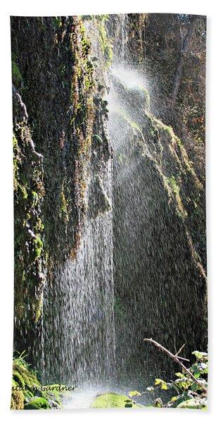 Tonto Waterfall Splash Beach Towel