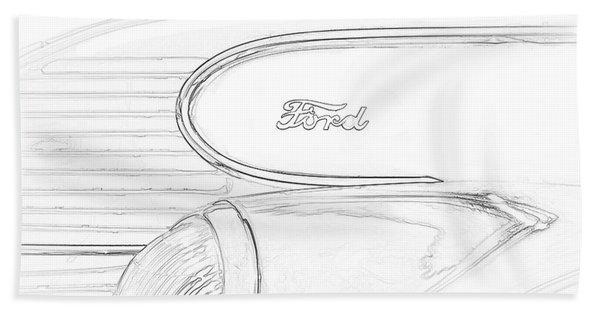 Torpedo Ford Beach Towel