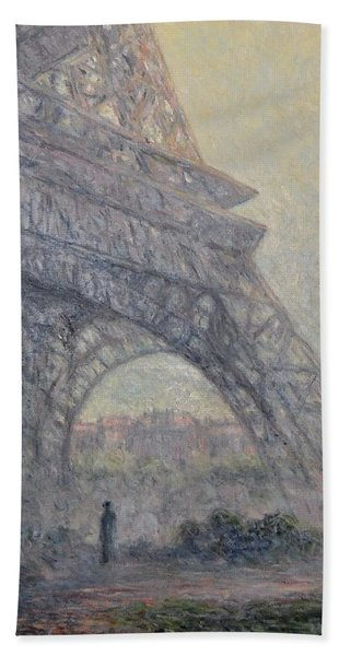 Paris , Tour De Eiffel  Beach Towel