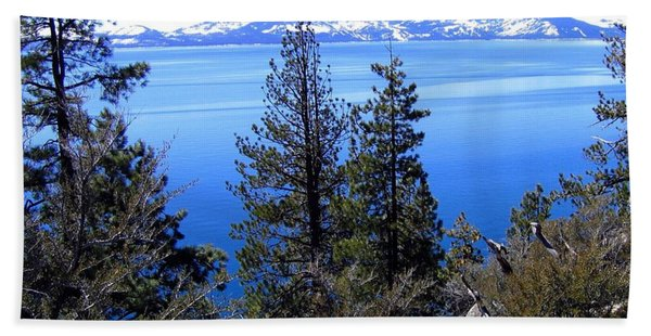 Tranquil Lake Tahoe Beach Towel