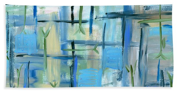 Tranquility Painting Beach Sheet