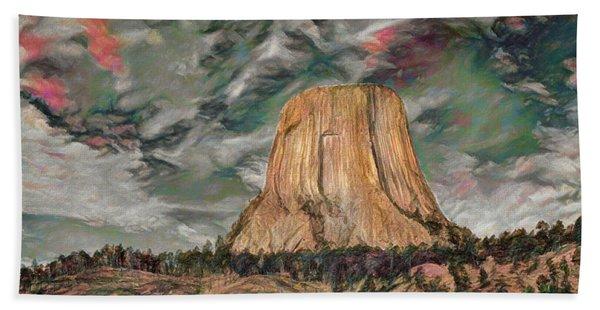 Transcendental Devils Tower Beach Towel