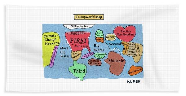 Trumpworld Map Beach Towel