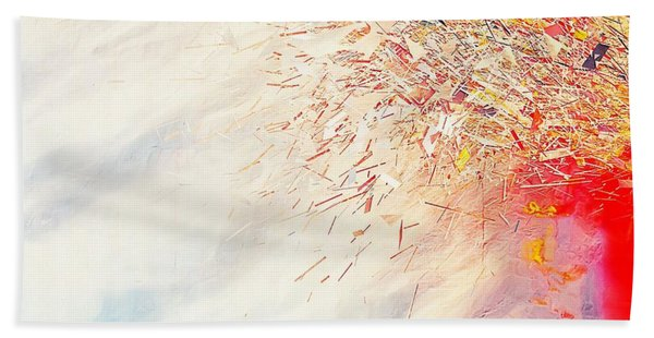 Beach Towel featuring the painting Tsunami by Mark Taylor