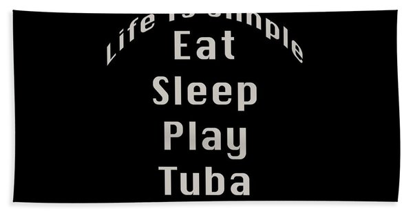Tuba Eat Sleep Play Tuba 5519.02 Beach Sheet