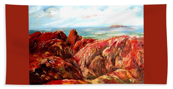 Uluru Viewed From Kata Tjuta Beach Towel