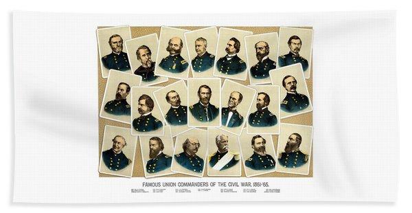 Union Commanders Of The Civil War Beach Towel