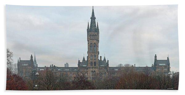 University Of Glasgow At Sunrise - Panorama Beach Sheet