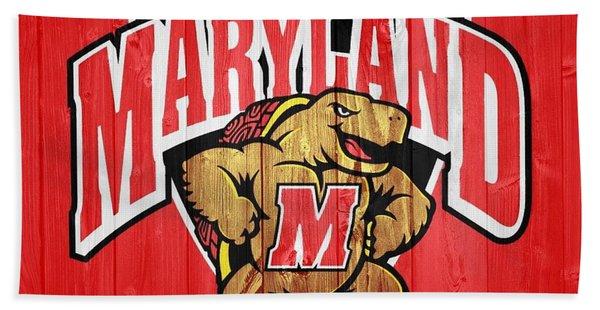 University Of Maryland Barn Door Beach Towel