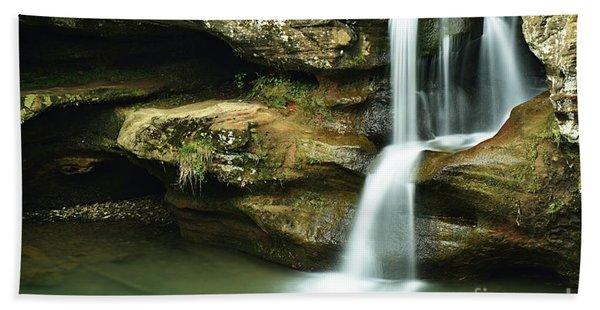 Upper Falls Closeup Beach Towel
